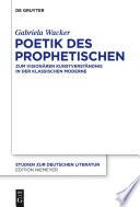 Poetik des Prophetischen