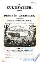 Le Cultivateur  Paris  1829
