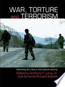 War  Torture and Terrorism