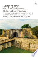 Carter v Boehm and Pre Contractual Duties in Insurance Law