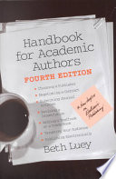 Handbook For Academic Authors book