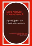 Data analysis in astronomy III