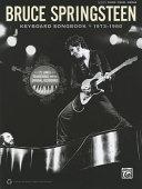 Bruce Springsteen Keyboard Songbook 1973 1980