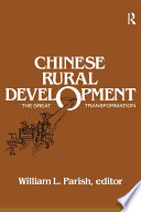 Chinese Rural Development The Great Transformation book