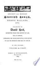 Ancient and Modern Scottish Songs, Heroic Ballads, Etc