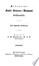Historiae iuris Graeco-Romani delineatio