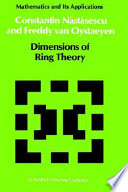 Dimensions Of Ring Theory book