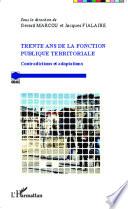 Trente Ans De La Fonction Publique Territoriale