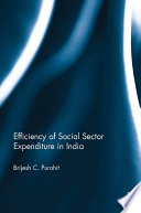 Efficiency Of Social Sector Expenditure In India book