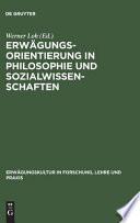 Erwägungsorientierung in Philosophie und Sozialwissenschaften