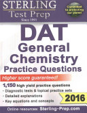Sterling Dat General Chemistry 1,800+ Practice Questions