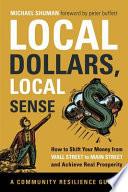 Local Dollars  Local Sense Book PDF