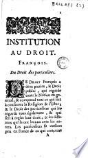 Institution Au Droit Fran Ais