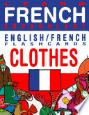 Learn French Vocabulary   English French Flashcards   Clothes