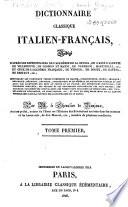 Dictionnaire classique italien fran  ais