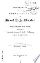 Proceedings of the Grand Lodge of Free and Accepted Masons of the District of Columbia