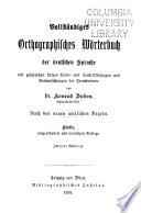 Vollst  ndiges orthographsches w  rterbuch der deutschen sprache