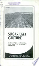 Sugar beet culture in the intermountain area with curly top resistant varieties