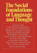 The Social Foundations of Language and Thought