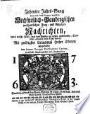 Hochfürstlich-Bambergische wochentliche Frag- und Anzeigenachrichten