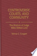 Controversy  Courts  and Community