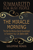 Book THE MIRACLE MORNING - Summarized for Busy People