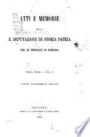 Atti e memorie   Deputazione di storia patria per le provincie di Romagna