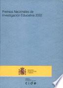 Premios nacionales de investigación educativa 2002