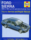 Ford Sierra 1982 to 1993  up to K Registration  4 cylinder Petrol