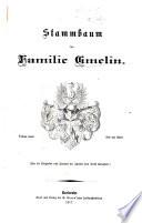 Stammbaum der Familie Gmelin