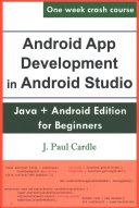 Android App Development in Android Studio