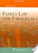 Family Law for Paralegals  Fourth Edition