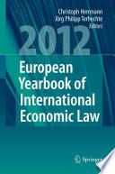 European Yearbook of International Economic Law 2012