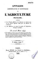 Annales administratives et scientifiques de l agriculture fran  aise