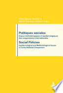 illustration du livre Politiques Sociales / Social Policies