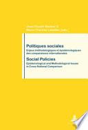 Politiques Sociales / Social Policies