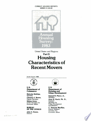 Annual Housing Survey : 1983: United States and Regions