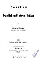Jahrbuch der Deutschen Universitäten von Heinrich Wuttke