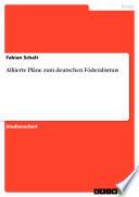 Alliierte Pläne zum deutschen Föderalismus