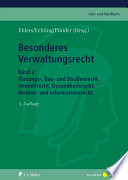 Besonderes Verwaltungsrecht Bd. 2
