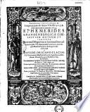 Ephemerides Brandenburgicae coelestium motuum et temporum    ab anno 1595 ad 1624