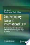 Contemporary Issues in International Law