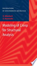 Modeling Of Creep For Structural Analysis book