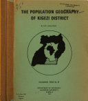 The Population Geography Of Kigezi District
