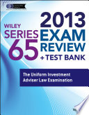 Wiley Series 65 Exam Review 2013   Test Bank