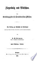 Ziegenbalg und Plütschau ; Die Gründungsjahre der Trankebarschen Mission