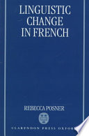 Linguistic Change in French