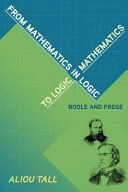 From Mathematics in Logic to Logic in Mathematics And Overlapping Research Programmes Boole S Introduction Of Mathematics