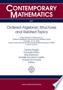 Ordered Algebraic Structures and Related Topics