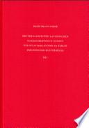 Die theologischen lateinischen Handschriften in octavo der Staatsbibliothek zu Berlin Preussischer Kulturbesitz: Ms. theol. lat. oct. 66-125